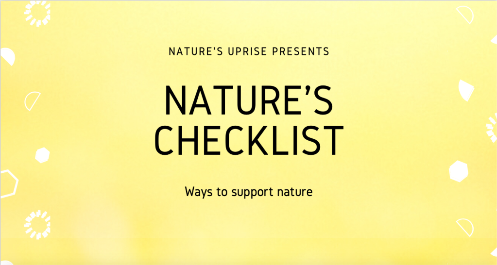 Header for ways to support nature