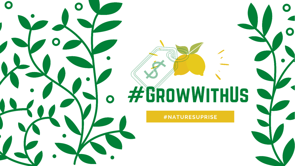 Support Nature's Uprise, there are many ways to Grow With Us